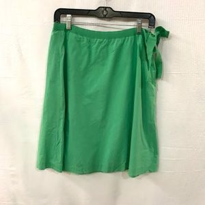 J Crew Green A Line Skirt With Bow  Size: 4